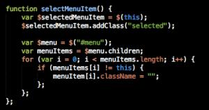 Simple JavaScript to create a sliding menu bar